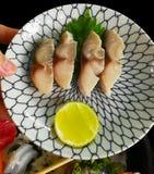 Shime Saba生鱼片 库存图片