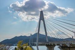 Shiminamikaido Suspension Bridge. Stock Photography