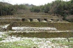 Shimizudani-Raffinerieruinen in ginzan Silberbergwerk Iwami (Welterbe) Lizenzfreies Stockfoto