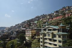 Shimla city. The beautiful city of Shimla situated on the slopes of mountains Royalty Free Stock Photography