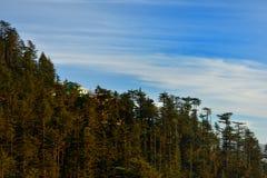 Shimla-Gebirgshintergrund lizenzfreies stockbild