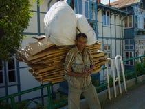 Shimla paper collector Stock Photography