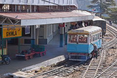 Shimla Railway Station. SHIMLA, INDIA - MARCH 21, 2014: Scene at Shimla rail station at the end of the line linking the town in the Himalayan fothills to Kalka Stock Image
