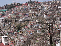 Shimla townscape, India. One of the densely populated Shimla hillsides in Northern India. The town, in the foothills of the Himalayas, was a summer retreat for Royalty Free Stock Photography