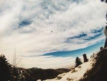 Shimla in Wintertijd stock foto's