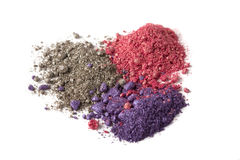 Shimmer eyeshadow. Eyeshadow shimer crumbly pigment dust royalty free stock image
