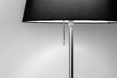 Shimmer lamp. Black and white of a shimmer lamp in living room Royalty Free Stock Photos