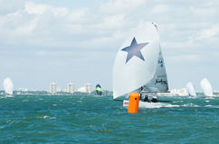 Shimmer at the leeward mark. Stock Image