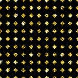 Shimmer Rhombus. Golden Background with Seamless Pattern of Shimmer Rhombus Stock Vector Illustration royalty free illustration