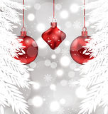Shimmering background with Christmas balls Stock Image