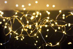 Shimmering blur spot lights on abstract background.  stock photo