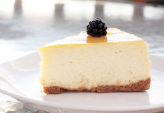 Shimmering Cheesecake Royalty Free Stock Photo