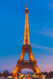Shimmering Eiffel Tower at night in Paris,  France Royalty Free Stock Image