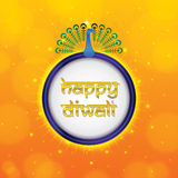 Shimmering happy diwali frame Stock Photo