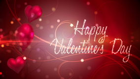 Shimmering hearts with valentines message. Digital animation of Shimmering hearts with valentines message stock video