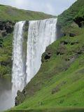 Shimmering Icelandic waterfall Stock Image
