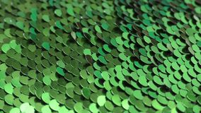 Shimmering mirrored scales for the background, textures. Artificial scales shimmer under different lighting conditions stock video footage