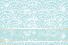 Shimmering summer background. With blue waves, bubbles and banner for text - eps10 vectors vector illustration