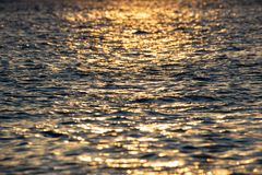 Shimmering light over the bay. Shimmering sunlight on water in the Sandy Hook Bay in New Jersey stock photo