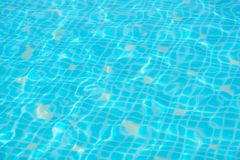 Shimmering turquoise pool water royalty free stock image