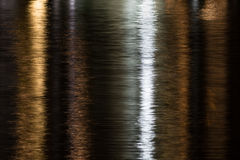 Shimmering water in gold, black, and silver Royalty Free Stock Photography