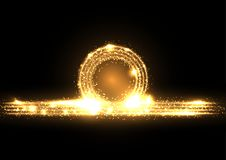 Gold sparkling rings royalty free illustration