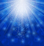 Shimmering Xmas Light Background with Rays, Winter Stock Images
