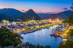 Shimoda,日本地平线 库存照片
