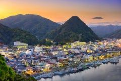 Shimoda, Ishikawa, Japan. Shimoda, Japan town Skyline at twilight on the Izu Peninsula royalty free stock photo