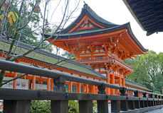 Shimogamo-jinja寺庙,京都,日本 免版税库存照片