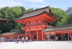 Shimogamo relikskrin Kyoto Japan Fotografering för Bildbyråer