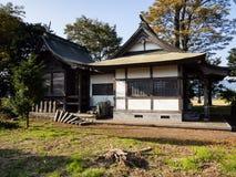 Shimomiya shrine inside Aso volcanic caldera. Part of Aso-Kuju National Park stock photo
