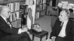 Shimon Peres Fosters Diplomacy met Egypte Royalty-vrije Stock Foto's