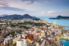 Shimonoseki, Japan. Skyline over the Kanmon Straits Royalty Free Stock Images