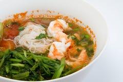 Shimp vermicelli noodle Stock Photos