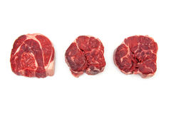 Shin of beef meat isolated on a white studio background, Royalty Free Stock Image