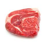 Shin da carne da carne isolado em um fundo branco do estúdio, Imagens de Stock Royalty Free