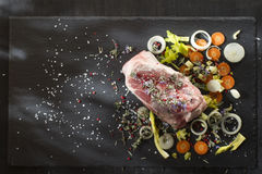 Shin raw pork Royalty Free Stock Photo