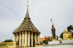 Wat Sakae Krang at Uthai Thani, Thailand. Shin Thiwali statue and buddha statue and Phra sangkatjay happy and smile Buddha for people praying at Wat Sakae Krang Stock Photo