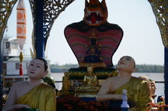 Shin Upaguttaฺ  Buddha Statue in Yangon Stock Photo