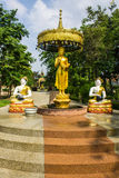 Shin Upagutta Statue em Wat Sri Don Moon, Chiangmai Tailândia Fotografia de Stock Royalty Free