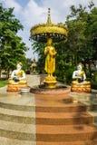 Shin Upagutta Statue i Wat Sri Don Moon, Chiangmai Thailand Royaltyfri Fotografi