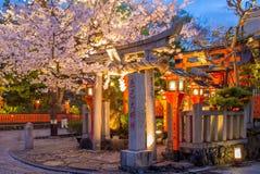 Shinbashi-dori Gion街视图  免版税库存照片