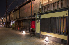 Shinbashi dori is one of the most beautiful streets in Kyoto, wi Royalty Free Stock Photography