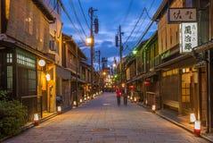 Shinbashi-dori Street view of Gion Royalty Free Stock Photography