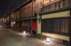Shinbashidori is één van de mooiste straten in Kyoto, wi Royalty-vrije Stock Fotografie