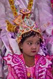 Shinbyu: Becoming a novice in Myanmar. Shinbyu is the Burmese term for a novitiation ceremony (pabbajja) in the tradition of Theravada Buddhism.The shinbyu is a Royalty Free Stock Photography