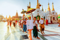 The Shinbyu ceremony is one of the most important event in a Buddhist's life in Myanmar. Stock Image