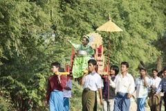 Shinbyu or novitiation ceremony Royalty Free Stock Images