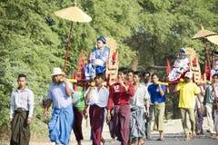 Shinbyu or novitiation ceremony Stock Images